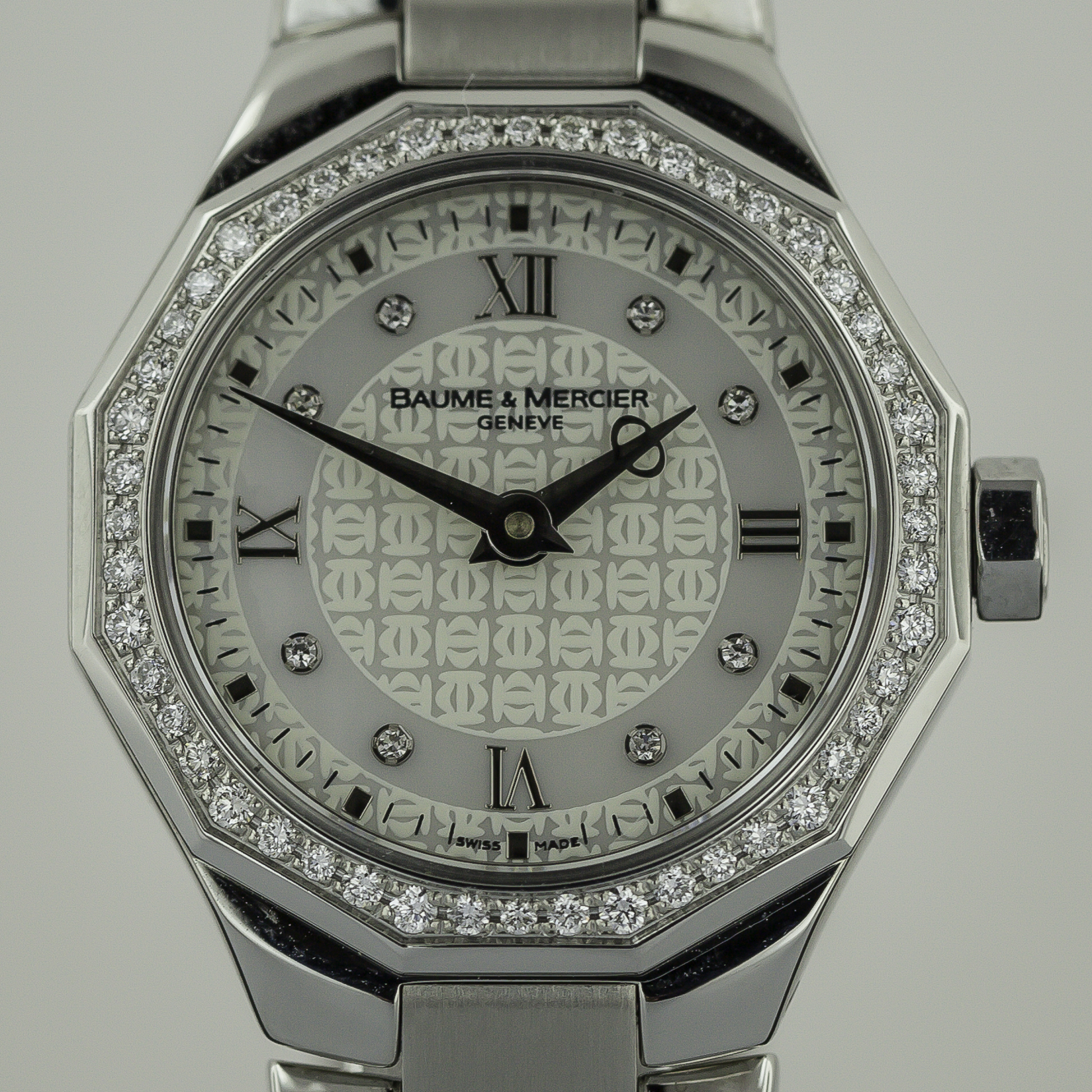 Baume Amp Mercier Riviera Stainless Steel Ladies Diamonds