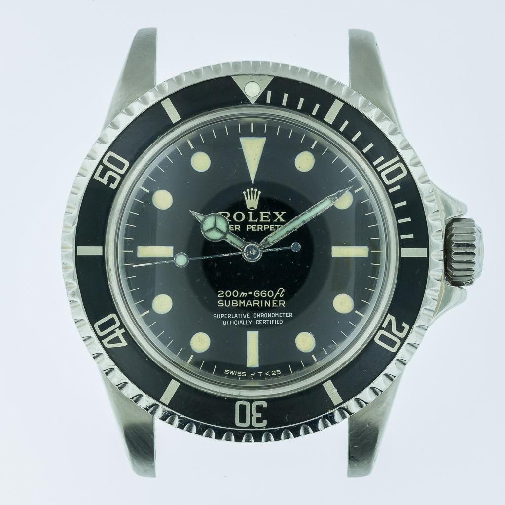 Rolex Vintage Submariner Ref 5512 Gilt Dial Mens Stainless