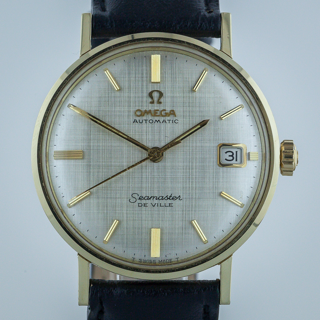 Omega Seamaster De Ville Mens 14k Solid Yellow Gold
